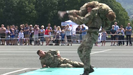 Royal Marines showcase their skills at HMS Raleigh open day