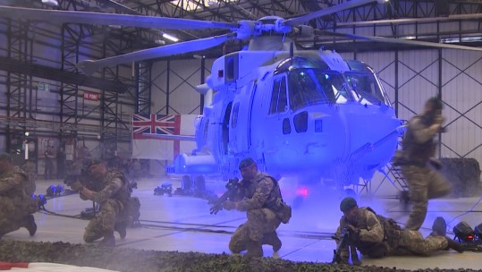 New Royal Navy Commando Merlin Mk4 helicopter