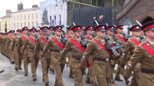 British Army Brecon Freedom March