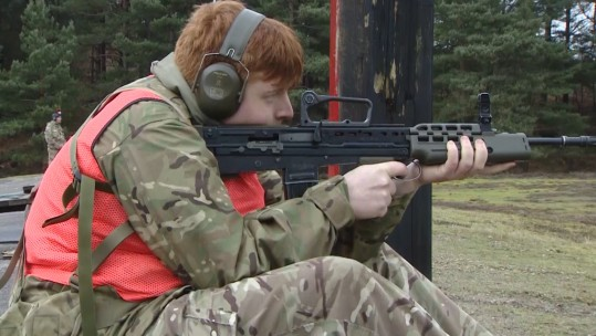 Army Cadet taking part in annual competition