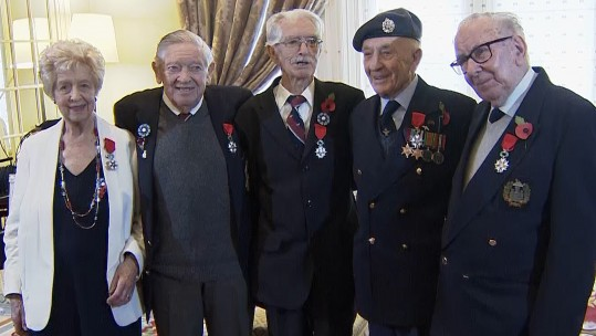 British Second World War veterans receive France's highest military honour