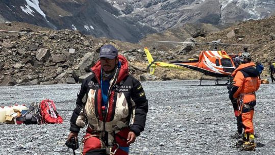 Nims Purka during Annapurna rescue on Himalayas CREDIT Project Possible