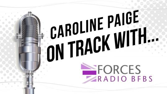 On Track With Caroline Paige Forces Radio BFBS LGBTQ Month Mike Howarth Interview