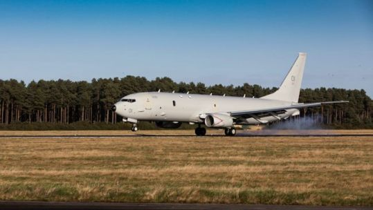 Cover image: Library image of a P-8A Poseidon at Kinloss Barracks (Picture: MOD).