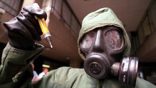 Gas Mask Chemical Biological War Nerve Agent PA