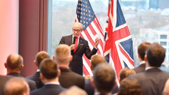 Cover Image: John Stillwell/PA Wire/PA Images. Woody Johnson the US Ambassador to the UK talks during a US Embassy housewarming reception.