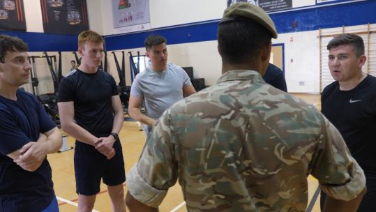 POs meet soldiers from 2 Mercian at Episkopi Garrison 070819 CREDIT BFBS