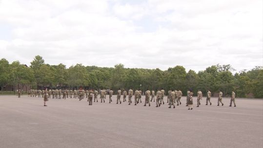 Passing out parade at Army Training Regiment Winchester 030720 CREDIT BFBS.jpg