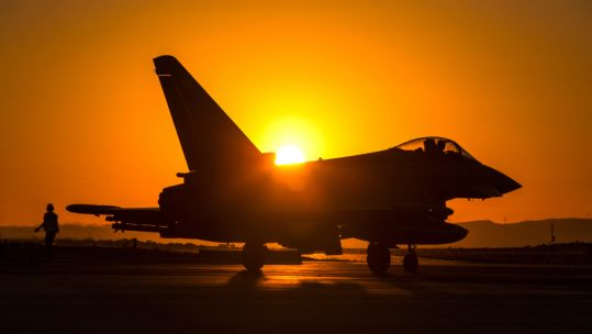 A Typhoon at RAF Akrotiri that makes up part of British Forces Cyprus (Picture: MOD).