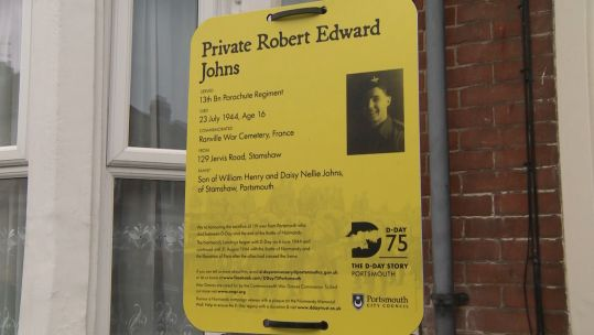 Plaque for Private Robert Edward Jones