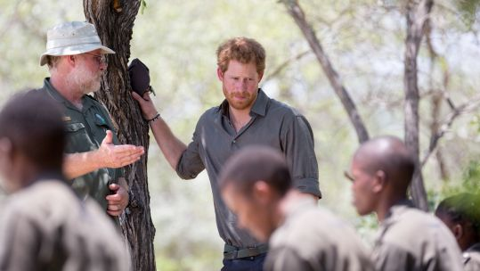 Poaching - Prince Harry during his visit to Southern African Wildlife College, centre close to Kruger National Park where he met students 021215 CREDIT PA