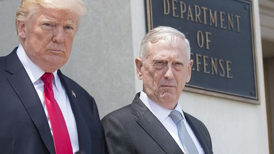 President Trump and General Mattis in 2017 (Picture: US Department of Defense).