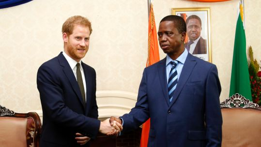 Prince Harry Meets Edgar Lungu 2711 CREDIT Zambia High Commission