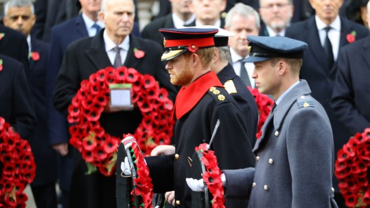 Prince Harry, Remembrance Sunday 2017