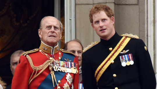 Prince Philip and Prince Harry in 2014 CREDIT PA/Anwar Hussein/EMPICS Entertainment