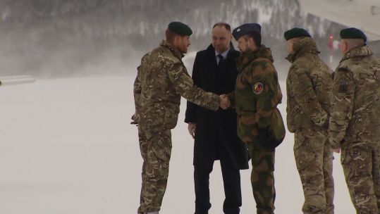 Prince Harry arrives in Norway for Ex Clockwork 140218 SOURCE Forces News