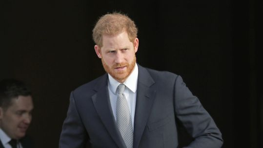 Prince Harry at Buckingham Palace while hosting Rugby League World Cup draw