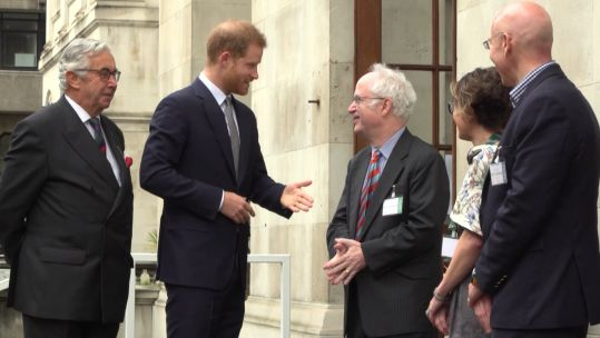 Prince Harry attends a Veterans Mental Health Conference in London