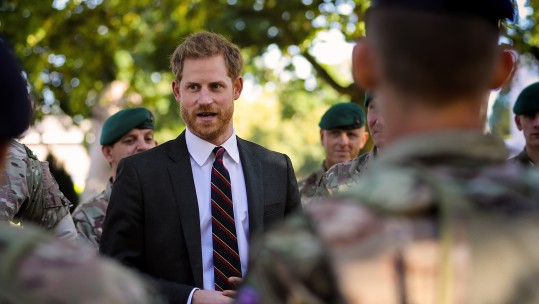 Prince Harry meeting Royal Marines Recruits 130918 CREDIT MoD
