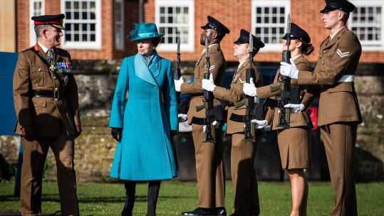 Princess Anne at centenary celebrations for Royal Corps of Signals in February (Picture: British Army).