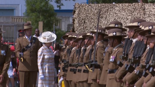 Princess Royal Marks Queen's Own Gurkha Logistic Regiment's 60th Birthday 010718