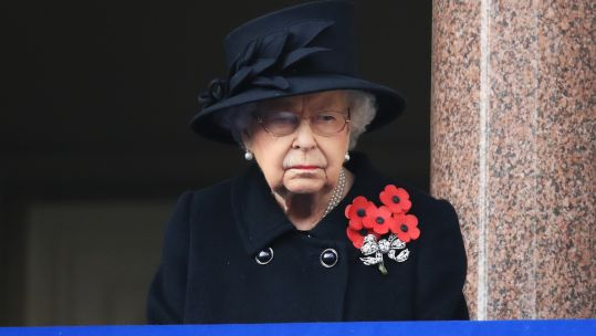 Cover image: The Queen watched on from a balcony at the Foreign, Commonwealth and Development Office building (Picture: PA).