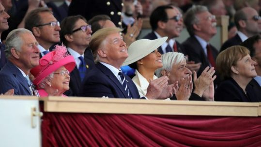 Queen and Donald Trump pay tribute to veterans at D-Day event