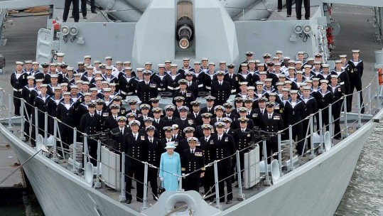 Her Majesty the Queen Visits HMS Lancaster