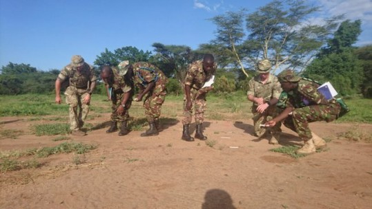 RAF regiment training Kenyan Army in tracking (Picture: MoD).
