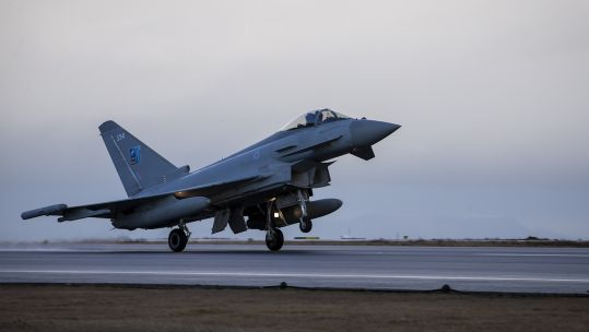 RAF Typhoon deployed to NATO's Icelandic Air Policing Mission (Picture: RAF).