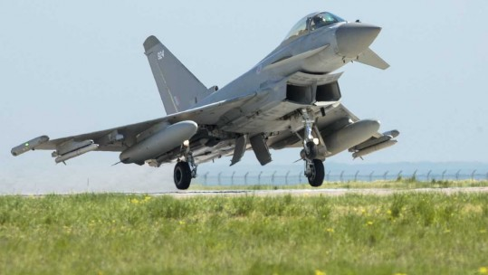 Four RAF Typhoons are currently in Romania on a NATO mission  (Picture: MoD).