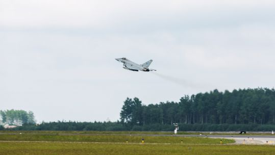 RAF Typhoon takes part in BALTOPS exercise (Picture: RAF).