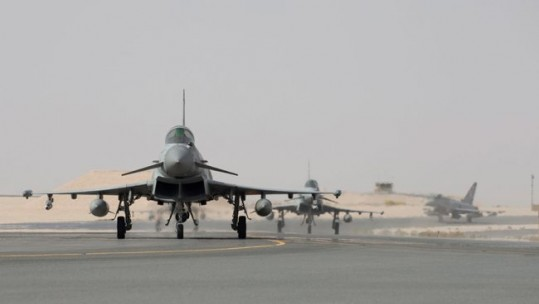 RAF Typhoons arrive in Oman ahead of exercise Epic Skies II