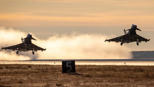 RAF Typhoons depart Iceland after NATO Air Policing mission (Picture: RAF).