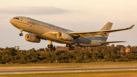 Cover Image: Libary image of an RAF Voyager landing at RAF Akrotiri (Picture: MOD).