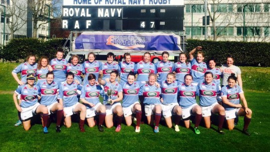 RAF Women Thrash Royal Navy