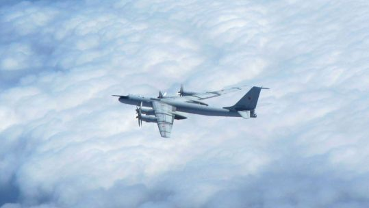 Cover image: The Russian aircraft did not enter UK airspace (Picture: RAF).