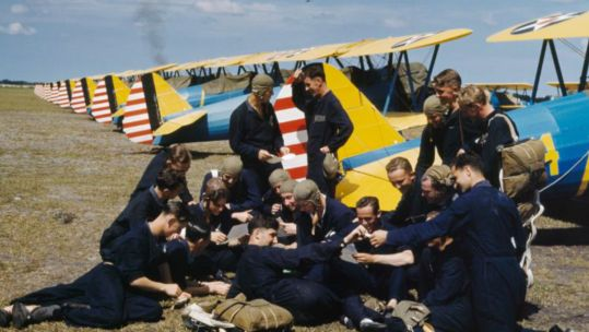 RAF pilots in training colour (Picture: IWM).