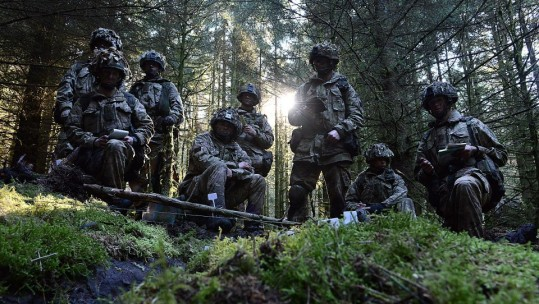 British Troops Test 'Invisibility Cloak'