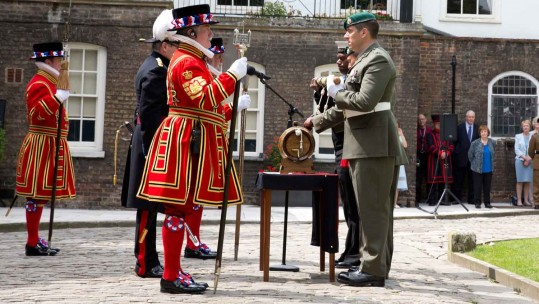 Royal Marines Carry Out Historic Ceremony at the Tower of London