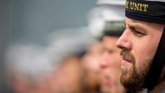 Royal Navy Sailor From HMS Bulwark Sporting A Full Set Beard