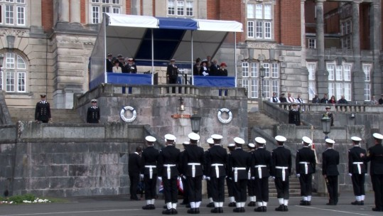 Royal Visit For Newly Commissioned Royal Navy Officers