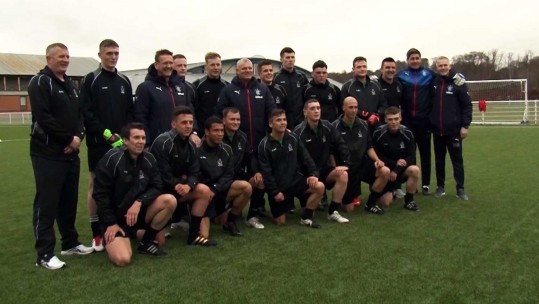 Soldiers Prepare For Big Game At Rangers FC