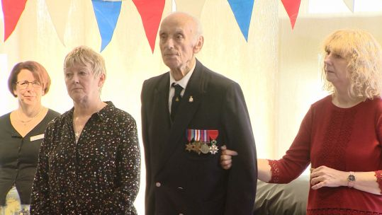 Ray Mellors receiving Legion d'honneur
