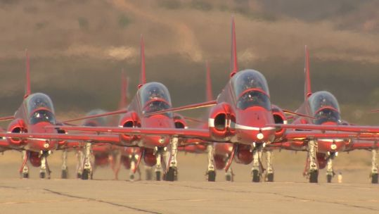 Red Arrows Miramar arrival 300919 CREDIT BFBS.jpg