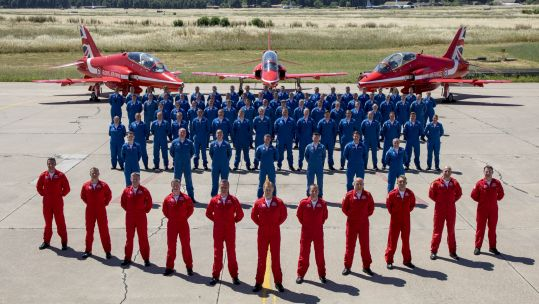 The Red Arrows were given the approval to perform after being granted a Public Display Authority (Picture: MOD).