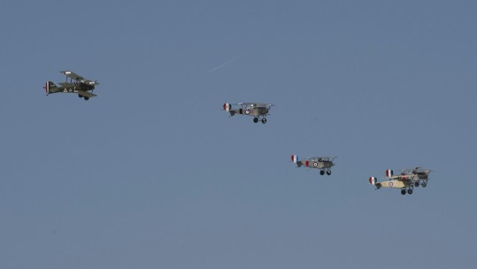 Sopwith camels flypast