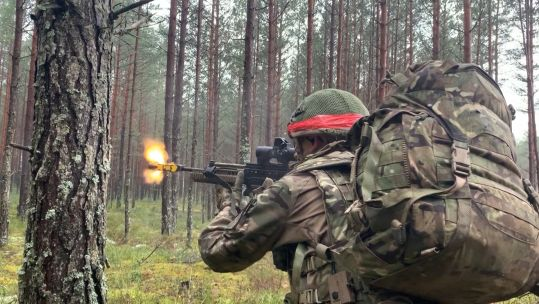 Reservist from 4 Mercian fires during Exercise Iron Wolf.