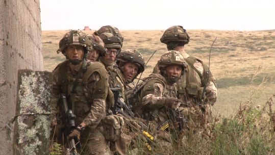 Reservists 2 Royal Irish on exercise in Wales 130919 CREDIT BFBS
