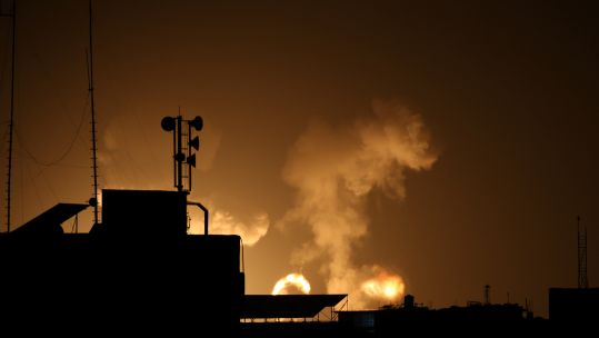 Israel strikes the south of the Gaza Strip.